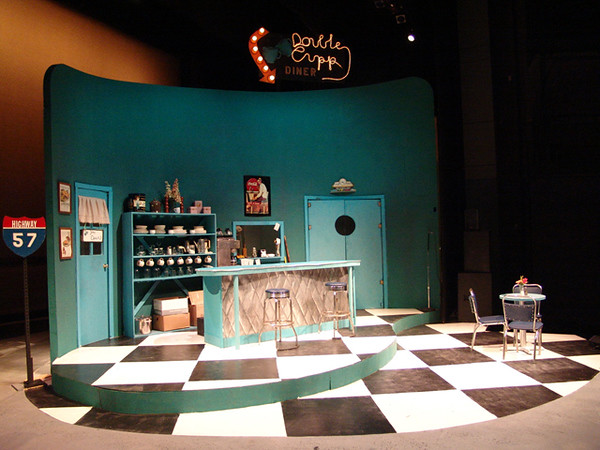 Pump Boys and Dinettes<br /> by John Foley<br /> March, 2004, Hanaway Theatre<br /> Directed by Kate Arecchi<br /> Scenic Design by Megan Becker<br /> Costume Design by Angela Pitrone<br /> Lighting Design by Neil Anderson
