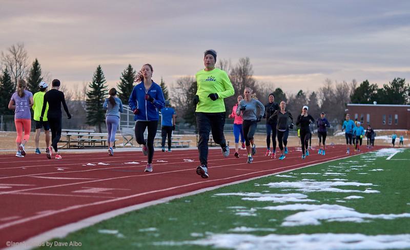 Popular activity, track running