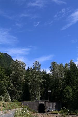 Cascade Tunnel Hiding Under the Sky