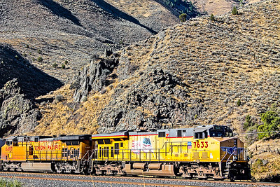 Train in a canyon