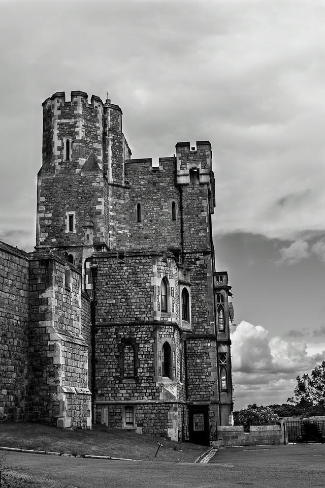 The back of Windsor Castle