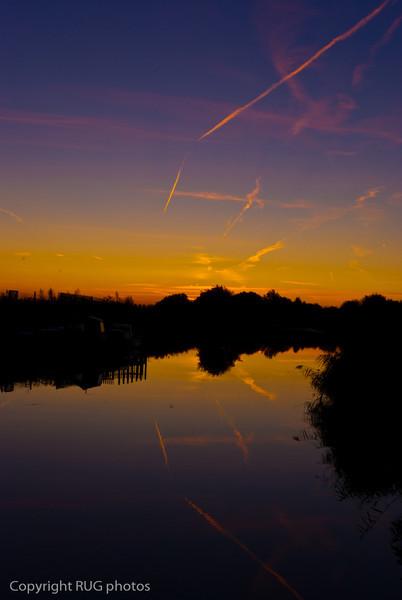 Tram-lines in the sky, Plucks Gutter, Kent