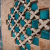 detail of inlay at Uch Sharif