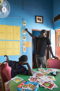 X-SUBA Sport4Development volunteer instructors use donated items like these flashcards to teach English to students whose parents can't afford to send them to school.  The students are often at the top of their class once they can find a means to enter school thanks to these efforts.