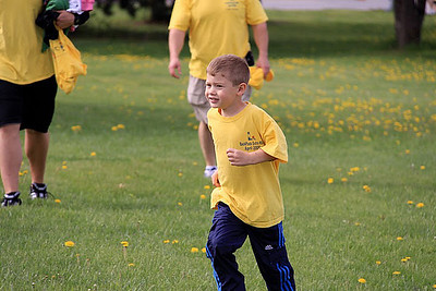 Participants in the annual Backpack Extra Mile Walk tackled the experience at all speeds: slow to fast!