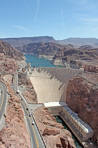 Hoover Dam from the highway bridge