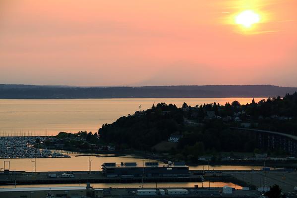 Hazy Seattle Sunset