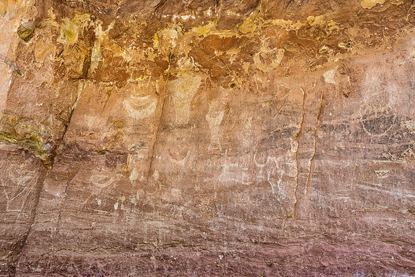 Petroglyphs at least 1,000 years old in Capitol Gorge.