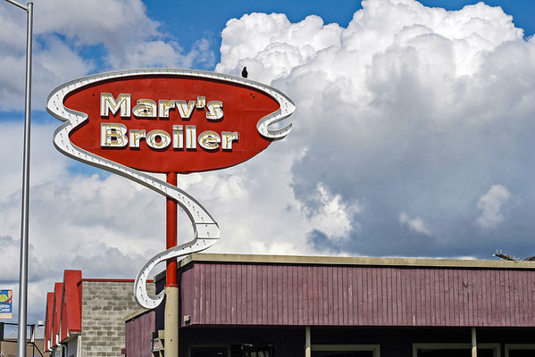 Marv's Broiler - as the crow lands