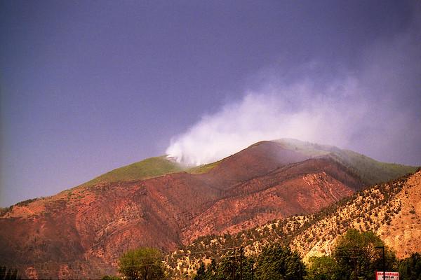 Nikon E (35mm Film)June 2002 (polarizing filter)  Coalseam Fire Glenwood Springs Colorado