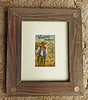 Vintage postcard - frame made from reclaimed wood with 20ga shotgun shell accents