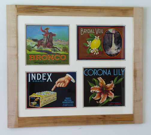 Old fruit crate labels...made the frame from reclaimed wood.