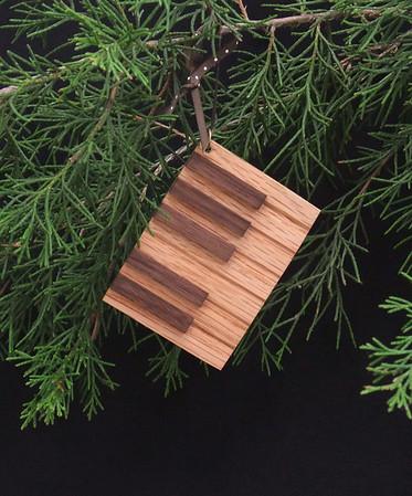 Keyboard ornaments - oak and walnut