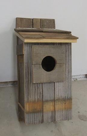 Screech owl house - recycled wood