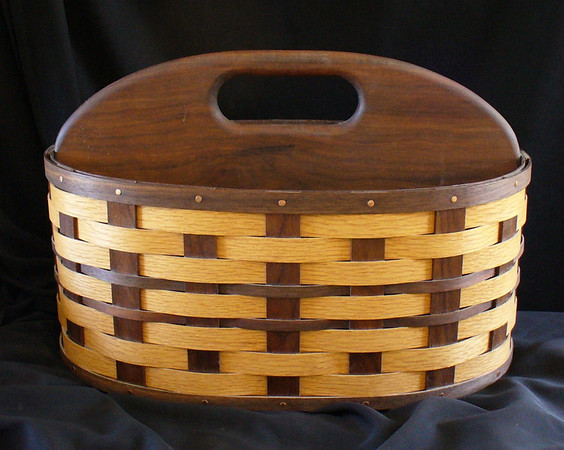 Magazine Basket - oak and walnut -