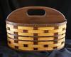 Magazine Basket - oak and walnut -