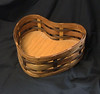 heart basket - cherry, walnut and oak