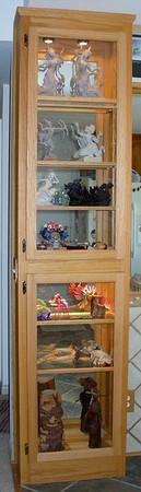 Curio cabinet - oak
