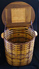 Clothes hamper - oak and walnut