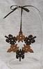 Snowflake ornament - oak and walnut