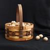 Basket - Oak, walnut and cherry - with sliced walnut shells.