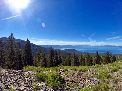 Captured on my GoPro mid descent on mountain bike along the Tahoe Rim Trail to the Brockway Summit Trailhead in North Lake Tahoe!