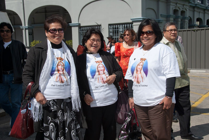 FCCVI members During the celebration of the Feast of San Lorenzo Ruiz held last 2 October 2011 at St Brigid's Church, Nicholson Street, Fitzroy, Victoria, Australia.  gG_20111002_GRE_2114