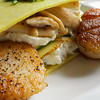 Open face lasagna, seared scallops, wild mushrooms<br /> <br /> <br /> <br /> Posana Cafe Gluten Free Dishes 5