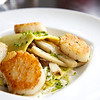 Open face lasagna, seared scallops, wild mushrooms<br /> <br /> Posana Cafe Gluten Free Dishes 17