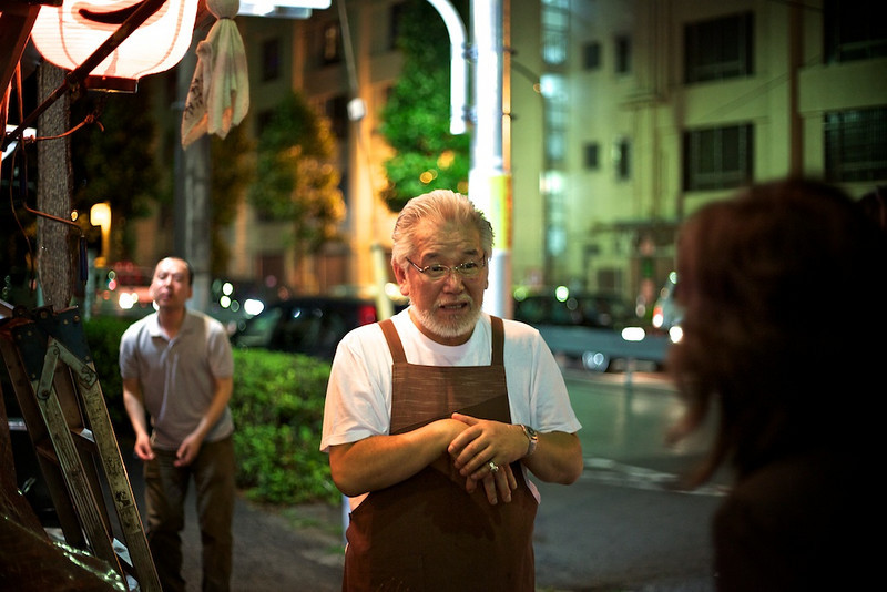 Outside of Kaotan Ramen. Is he the wizard behind the magic?