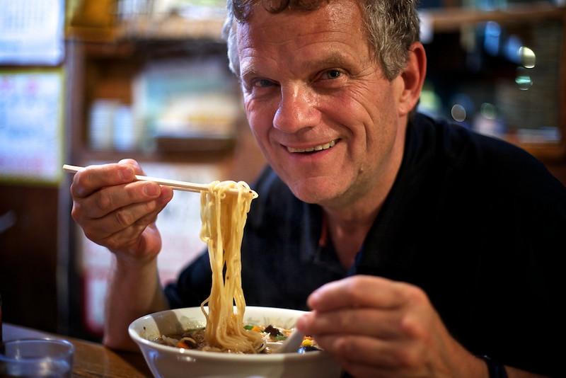 My ramen-eating grin.