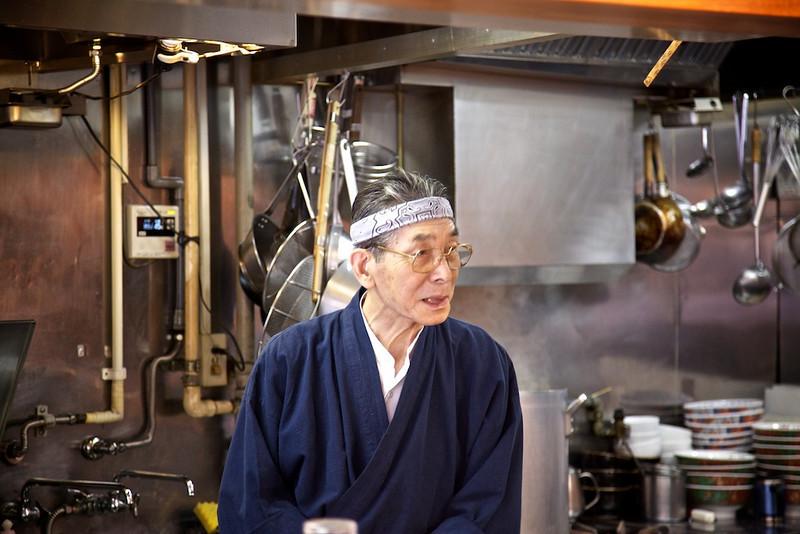 The Master at Harukou Shinasoba.