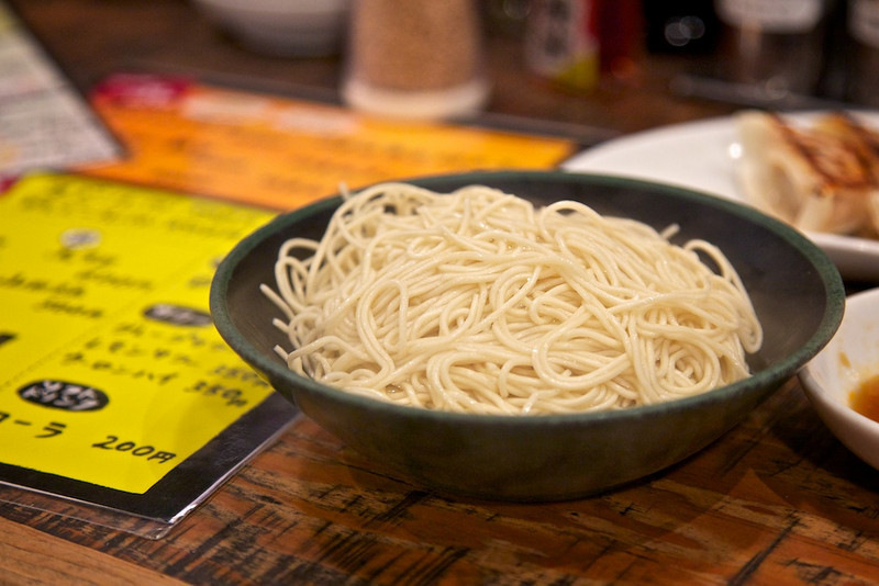 The beloved kaedama. Most shops offer extra noodles upon request with a modest fee.
