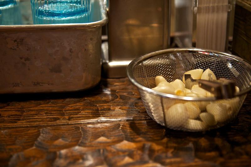 Seibee Ramen and all the garlic you dare to add.