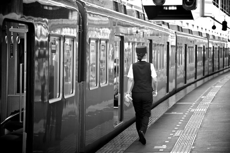 Hankyu Rail conductor