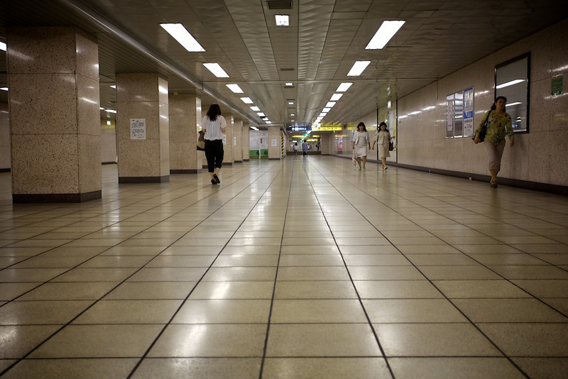 A rare moment...an empty station.