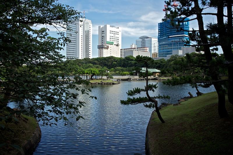 Hamarikyu Gardens near Tsukiji.