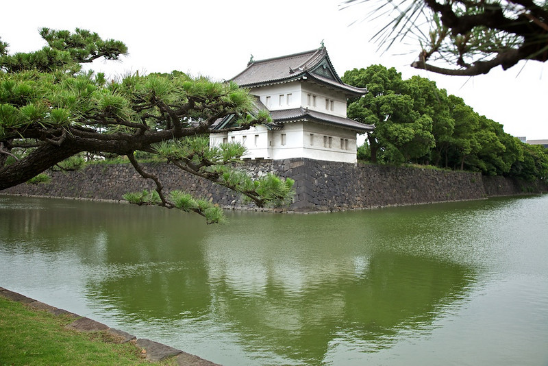 Outside the Tokyo Imperial Palace.