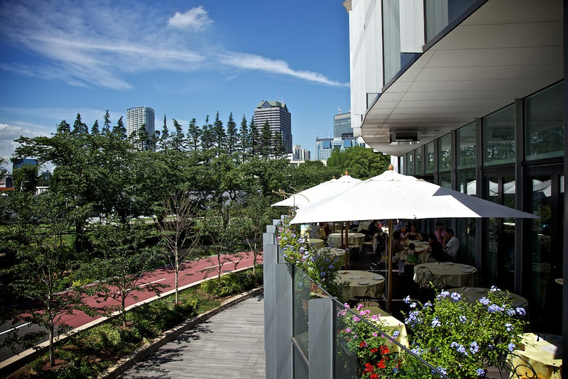 From Tokyo Midtown in Roppongi. On the right is a restaurant that serves, what is rumored to be, the best pizza in the world.