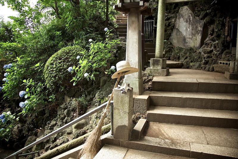 On break at Shinagawa Shrine