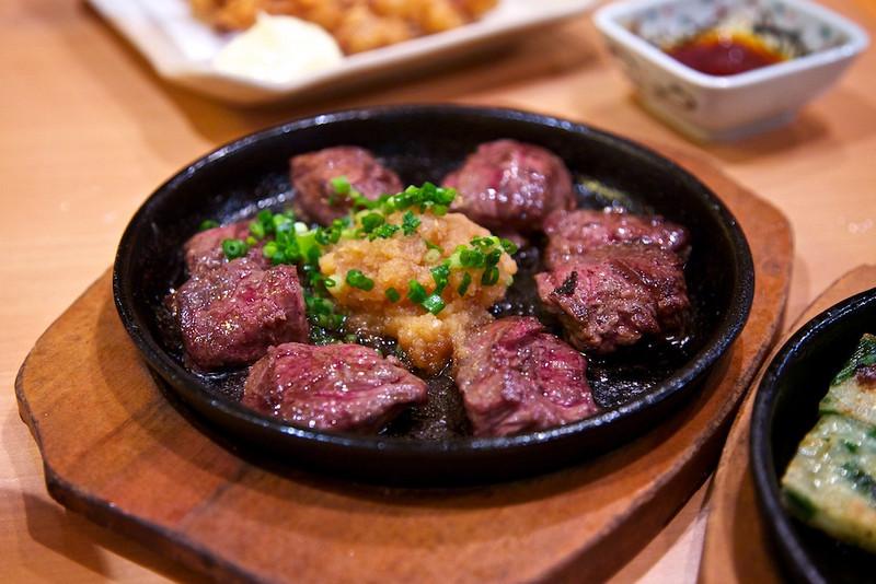 Diced steak at tengu