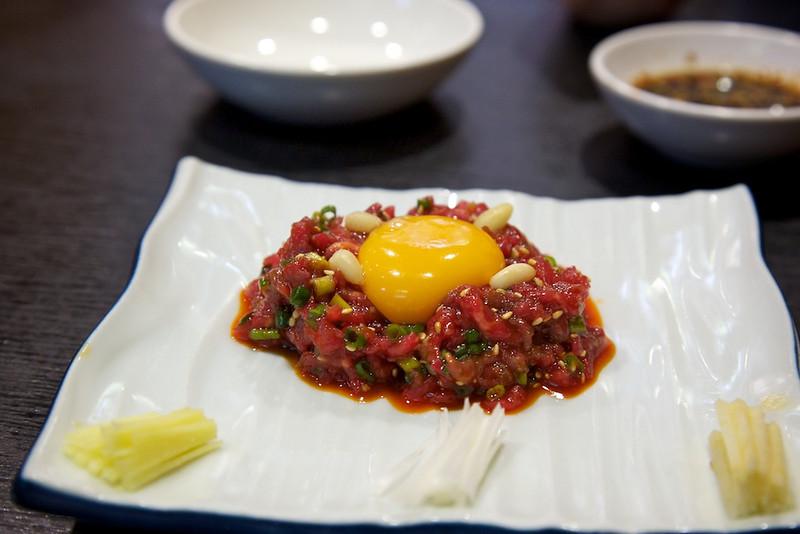 Raw beef dish at Korean restaurant...outstanding!