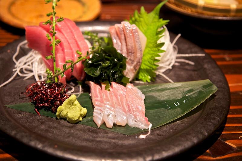 Sashimi plate at Fuku no Hana.