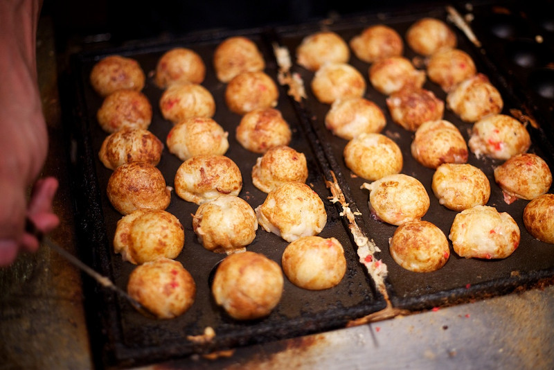 Osaka is famous for its takoyaki, and these late night snacks did not disappoint...thanks again, Tony!
