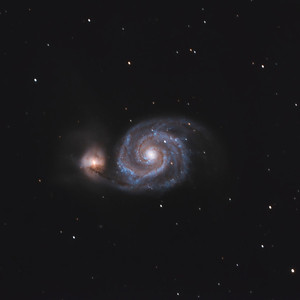 The Whirlpool Galaxy (m51) and friends....