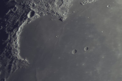 Sinus Iridum.  Can you see the 'Moon Maiden'?