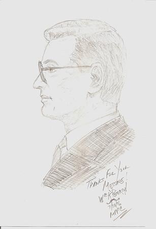 1996  Sketch of Millard by Wm Peterson. lf