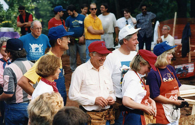 1992 Millard and Carters host Clintons and Gores at a Habitat build during their campaign.