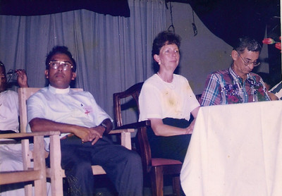 1998 Linda and Millard visit Habitat work in Sri Lanka. (Millard, suffering from jet lag, taking a little power nap.)  lf