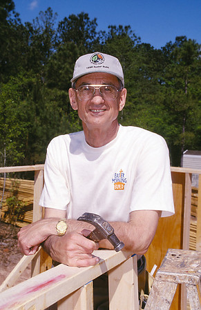 Millard Fuller at the Easter Morning Build site. (1998)
